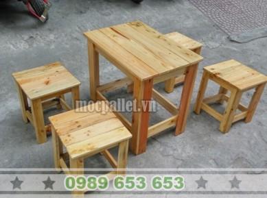 Bộ bàn ghế gỗ thông Pallet BG34