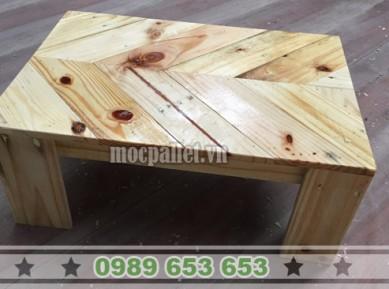 Bàn bệt gỗ thông pallet BT12