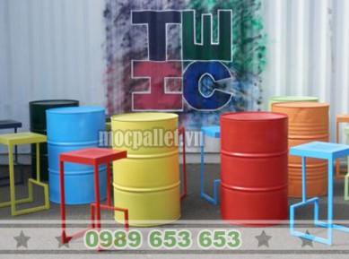 Bàn bar thùng phi sắt TP27