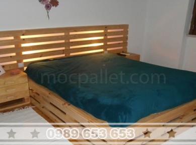 Giường ngủ gỗ thông pallet đẹp GN09