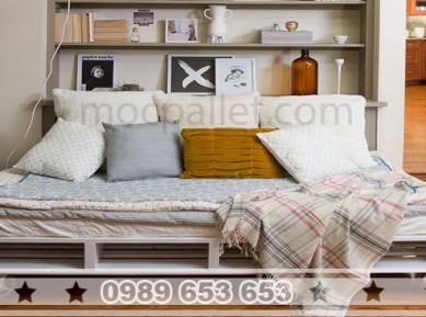 Giường ngủ gỗ thông pallet GN08