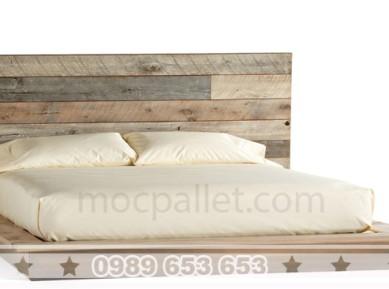 Giường ngủ gỗ thông pallet đẹp GN12