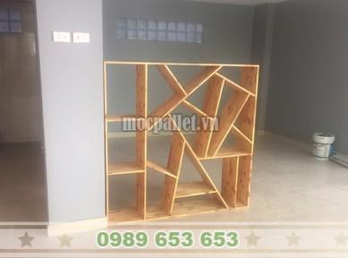Kệ trang trí gỗ thông pallet giá rẻ KG25