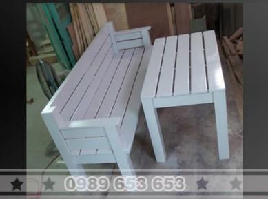Bộ bàn ghế gỗ thông pallet B2