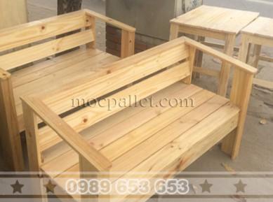 Ghế băng gỗ thông pallet B001