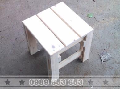 Ghế đôn gỗ thông pallet GD2