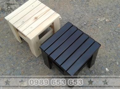 Ghế đôn gỗ thông pallet GD3