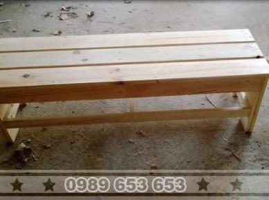 Ghế băng gỗ thông pallet B8