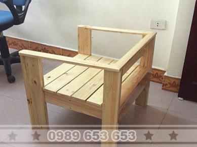 Ghế gỗ thông pallet GS9