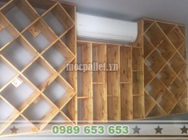 Kệ rượu gỗ thông pallet KG26