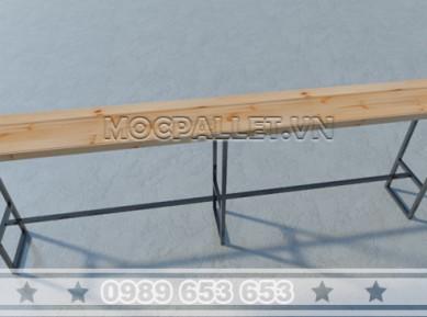 Bàn bar gỗ thông pallet chân sắt BB07