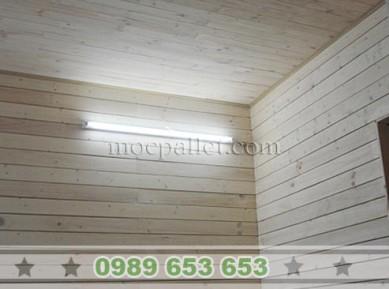Ốp tường gỗ thông pallet đẹp giá rẻ tại Hà Nội