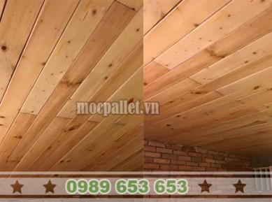 Ốp trần gỗ thông pallet đẹp giá rẻ tại Hà Nội