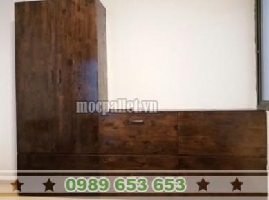 Tủ gỗ thông đẹp giá rẻ TG09