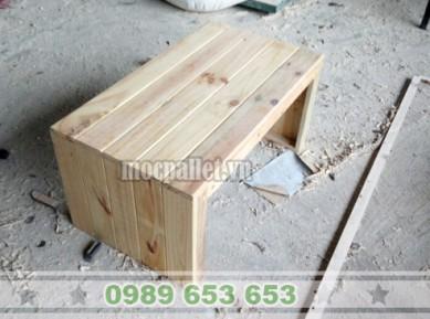 Bàn bệt gỗ thông pallet BT21